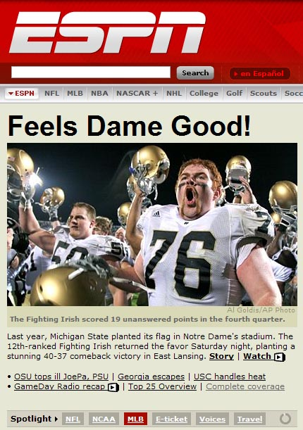 ND Beats MSU: Hey Mark May…HOW DOES THAT FEEL??!