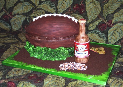 No, there's not actually beer IN the cake.