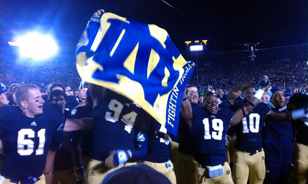 Notre Dame Stadium has put some scares into the Irish. Photo by @NDSportsBlogger via Twitter