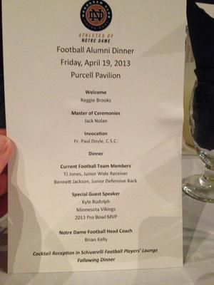 Football Alumni Dinner