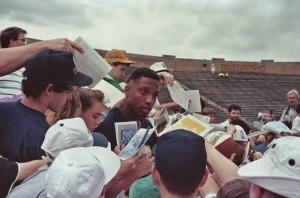Derek Brown, Notre Dame Spring Game 1990