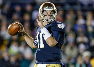 A look ahead at Brian Kelly's starting quarterback, Tommy Rees. (Robin Alam/Icon SMI)