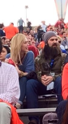 The most SEC thing ever: Duck Dynasty in attendance.