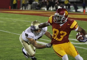 The USC Trojans fell to the Notre Dame Fighting Irish 20-16 at the Los Angeles Memorial Coliseum Saturday November 27, 2010. (Shotgun Spratling/Neon Tommy)
