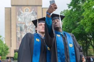 Pat Connaughton and  Jerian Grant at Notre Dame 2015 Graduation, via @NDmbb