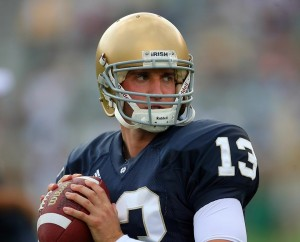 Notre Dame quarterback, Evan Sharpley
