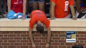 The end result of watching all your hope crushed. (Screen capture via EPSN)