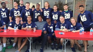 ND Football Supports Fundraiser To Prevent Child Abuse