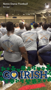 """New Motto for ND Football: """"Leaders Eat Last"""""""