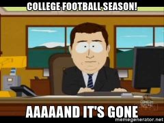 And the Season is Over….