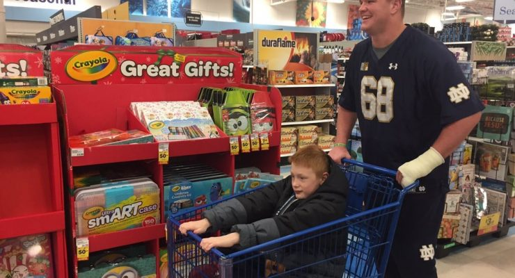 'Tis the season...  For our annual 'Shop With a Player' outing with local kids in the community. (Photo via @NDfootball on Twitter)